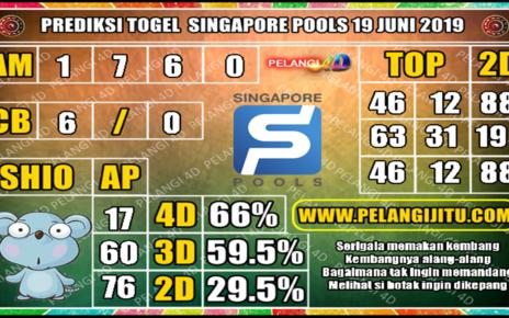 PREDIKSI TOGEL SINGAPORE POOLS 19 JUNI 2019