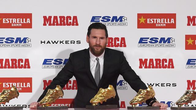 Lionel Messi Raih Sepatu Emas Eropa Keenam