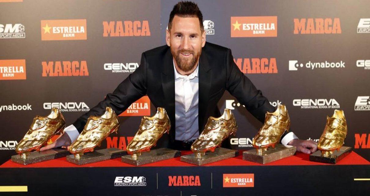 Kalahkan Mbappe 'Lionel Messi Raih Trofi Sepatu Emas Eropa 2019'