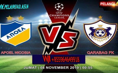 Prediksi APOEL Nicosia Vs Qarabag FK 08 November 2019 | Liga Champions UEFA