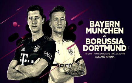 Prediksi Bayern Munchen vs Borussia Dortmund 10 November 2019