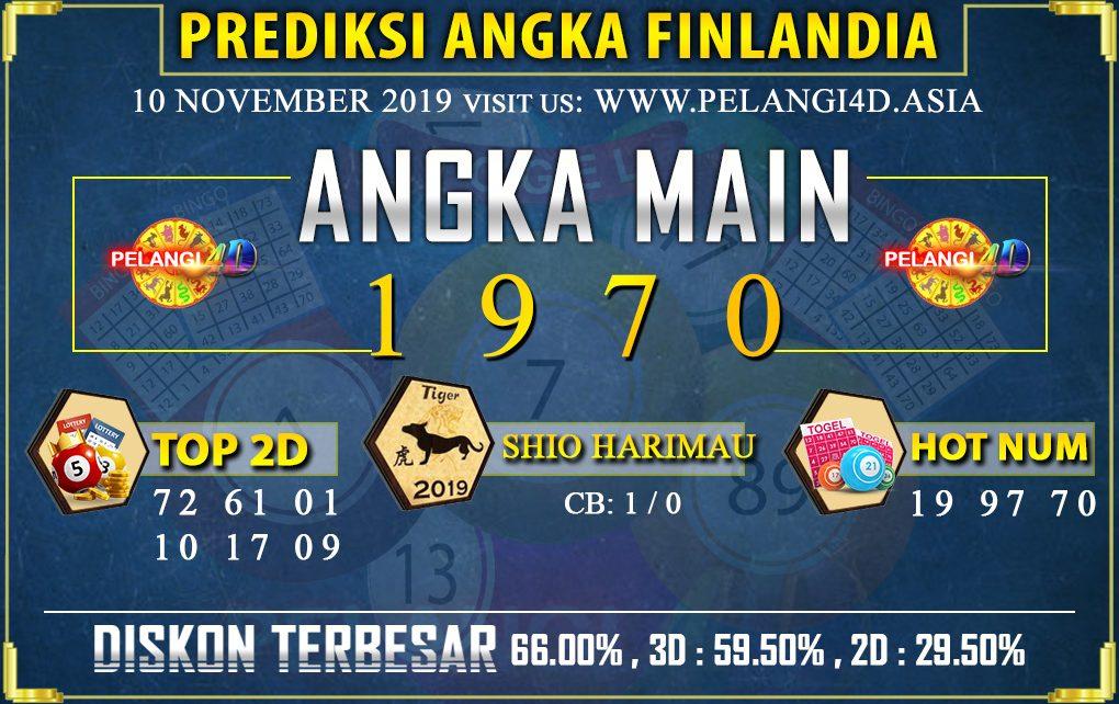 PREDIKSI TOGEL FINLANDIA POOLS 10 NOVEMBER 2019