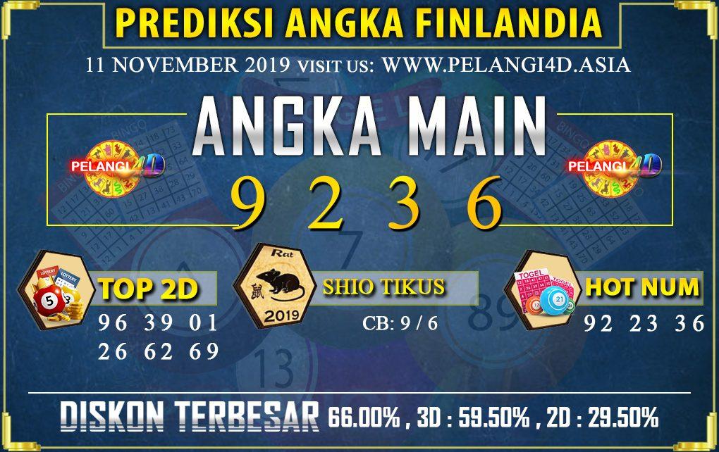 PREDIKSI TOGEL FINLANDIA POOLS 11 NOVEMBER 2019