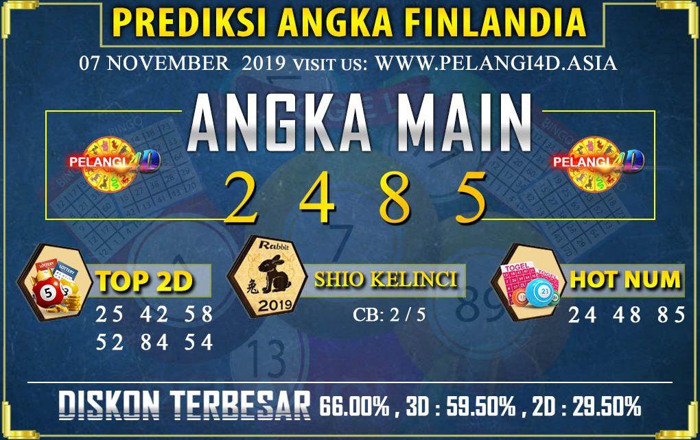 PREDIKSI TOGEL FINLANDIA POOLS 07 NOVEMBER 2019