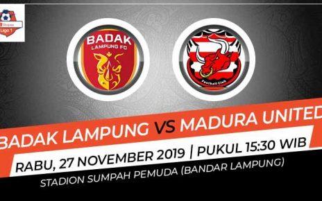 Prediksi Pertandingan Liga 1 2019 Badak Lampung FC vs Madura United