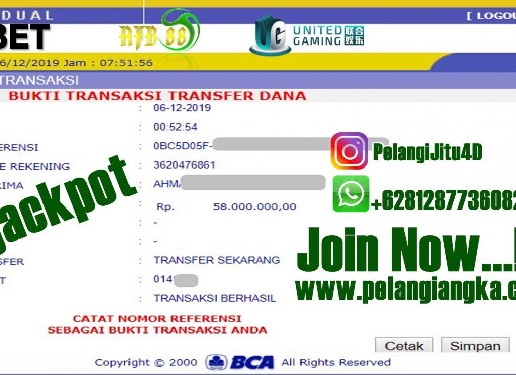 Bukti Jacpot Member Pelangi4d 50.000.000 Kami Bayar Lunas.
