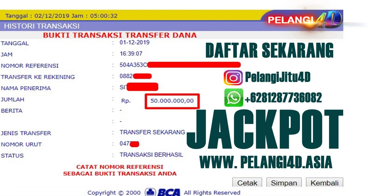 Bukti Jacpot SPORTBOOK Member Pelangi4d 50.000.000 Kami Bayar Lunas…!!!