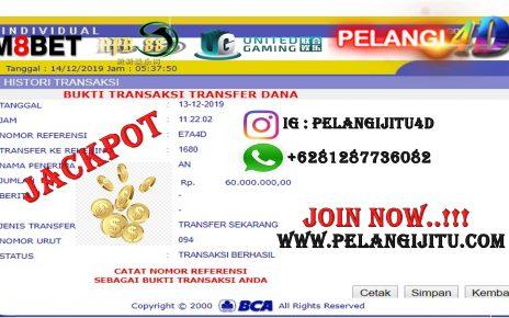 Bukti Jacpot Member Pelangi4d 60.000.000 Kami Bayar Lunas