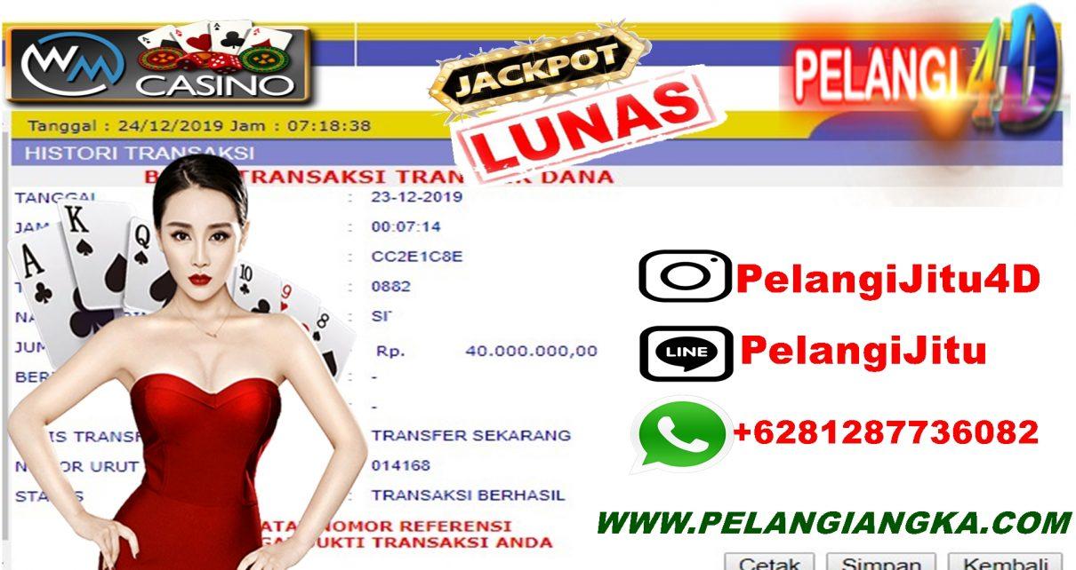 Member Pelangi4D Jackpot Di WM CASINO 40.000.000