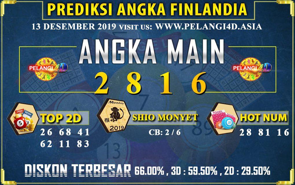PREDIKSI TOGEL FINLANDIA POOLS 13 DESEMBER 2019