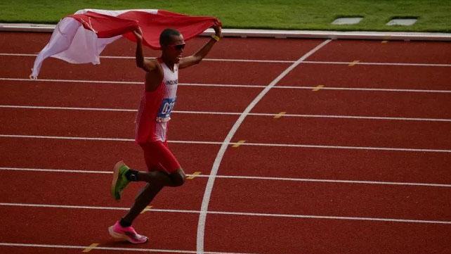 Agus Prayogo Raih Emas dari Lari Marathon SEA Games 2019