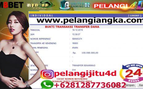 Bukti Jacpot Member Pelangi4d 100.000.000 Juta Kami Bayar Lunas