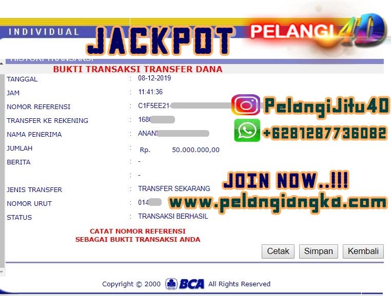 Lagi Bukti Jacpot Member Pelangi4d 50.000.000 Kami Bayar Lunas.