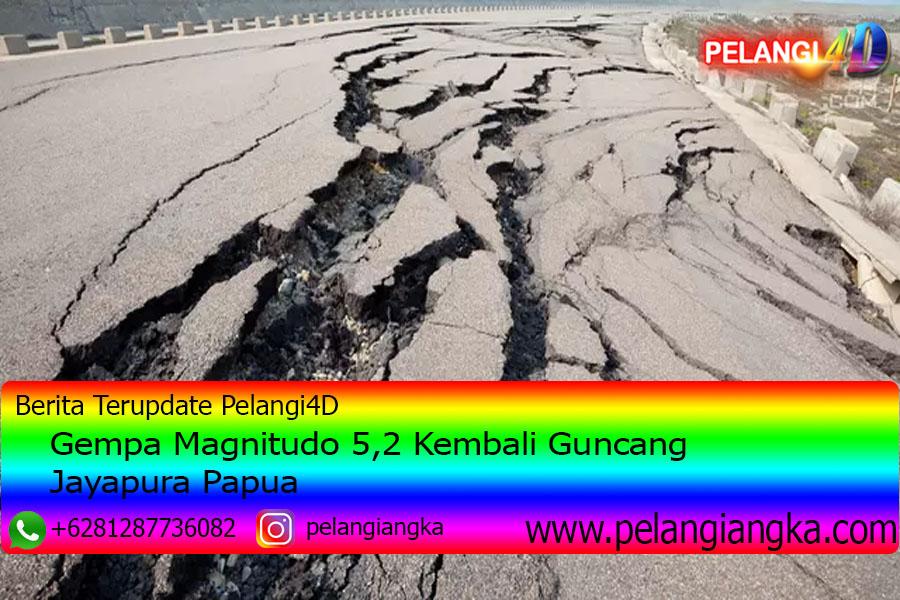 Gempa Magnitudo 5,2 Kembali Guncang Jayapura Papua