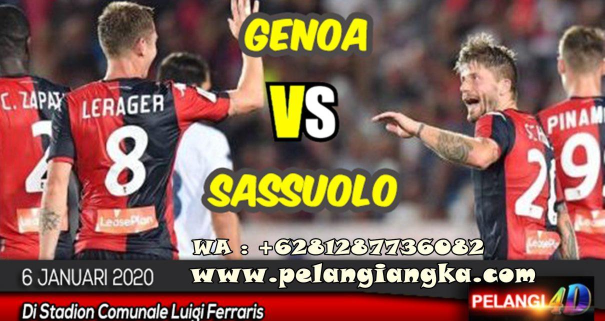 Prediksi Bola Genoa vs Sassuolo 06 Januari 2020
