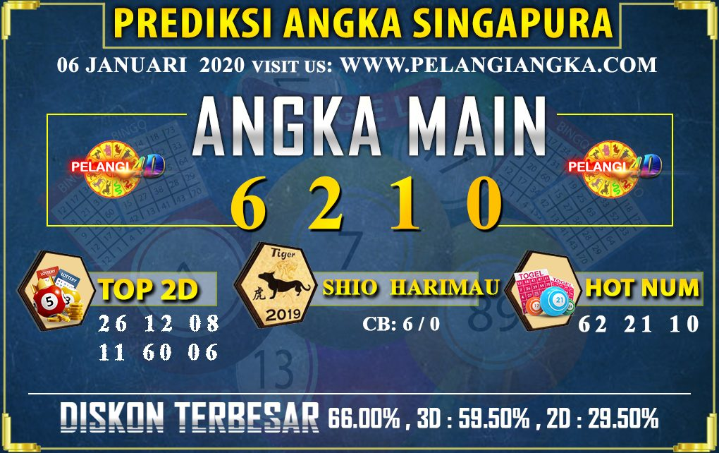 PREDIKSI TOGEL SINGAPORE POOLS 06 JANUARI 2020
