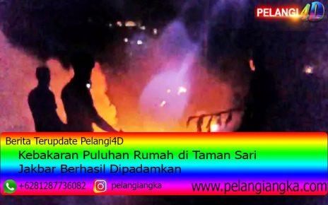 Kebakaran Puluhan Rumah di Taman Sari Jakbar Berhasil Dipadamkan