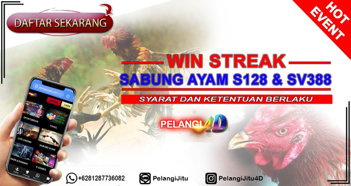 EVEN : PROMO WINSTREAK SABUNG AYAM