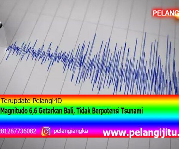 Gempa Magnitudo 6,6 Getarkan Bali, Tidak Berpotensi Tsunami