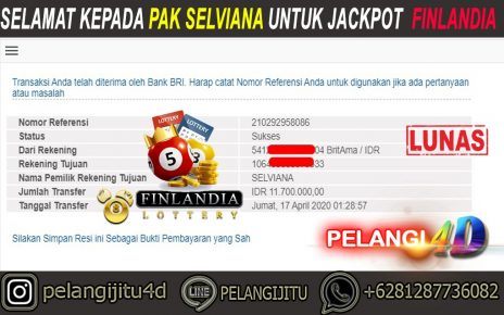 BUKTI JACKPOT TOGEL FINLANDIA DI PELANGI4D