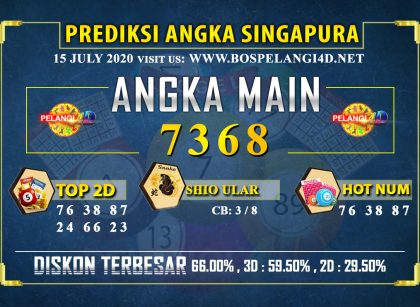 PREDIKSI TOGEL SINGAPORE POOLS 15 july 2020