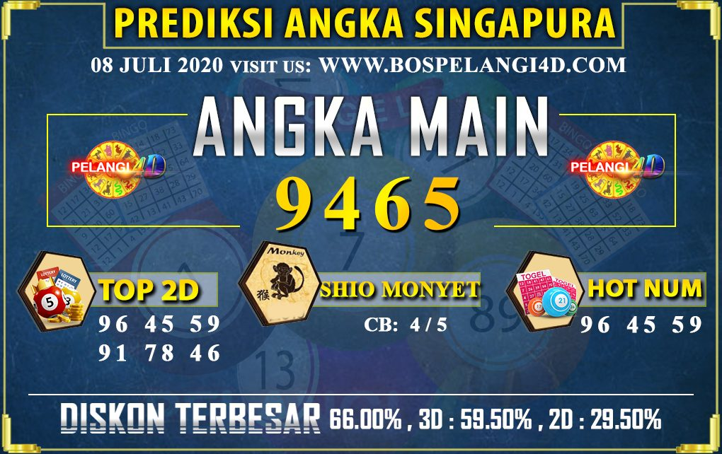 PREDIKSI TOGEL SINGAPORE POOLS 08 july 2020