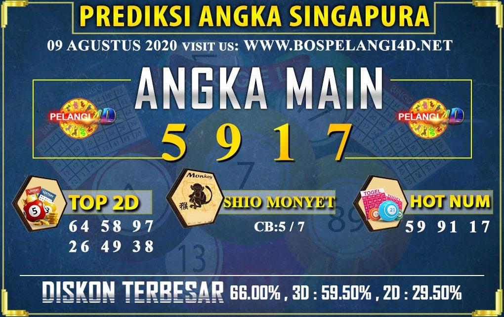 PREDIKSI TOGEL SINGAPORE POOLS 09 AGUSTUS 2020
