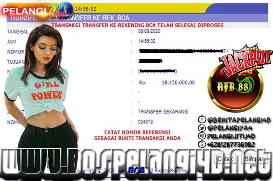 Member Pelangi4d Jackpot SPORTBOOK Pelangi4D 08 AGUSTUS 2020