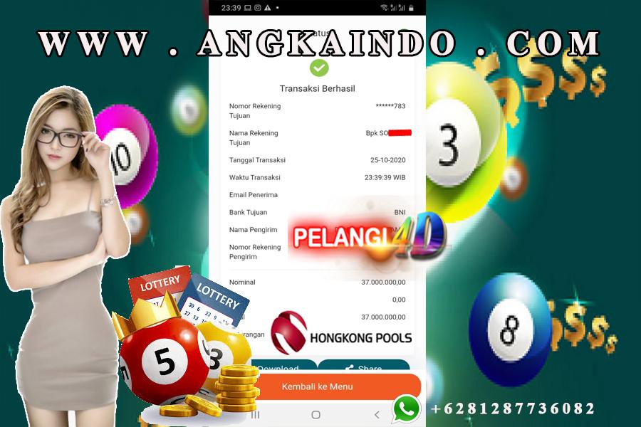 Bukti Jackpot TOGEL HONGKONG 25 Oktober 2020
