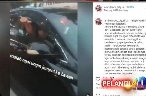Viral Video Ambulans Pasien COVID Kini Di Hadang Mobil Di Bandung