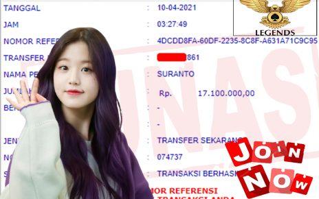 1 Lagi Bukti Kemenagan Jackpot DARI POKER LEGEND 10.04.2021