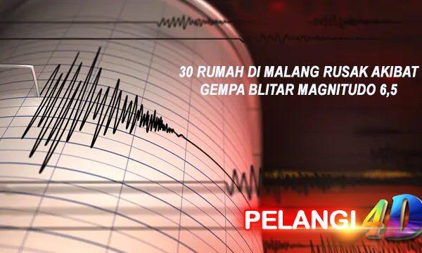 30 Rumah di Malang Rusak Akibat Gempa Blitar Magnitudo 6,5